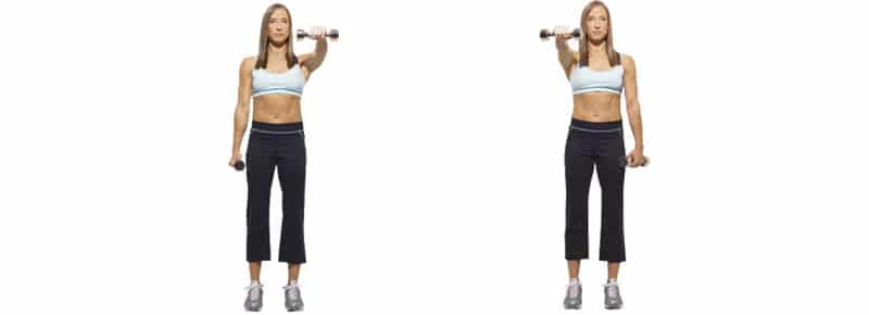 Alternating Dumbbell Front Raise