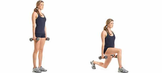 alternating lunges esercizio glutei e gambe