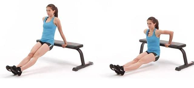esercizio bench dips