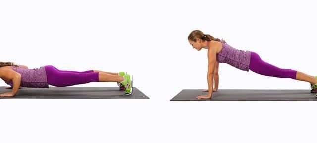 piegamenti sulle braccia push ups