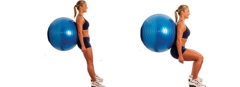 Fitball Squat al muro