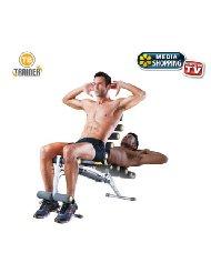 TB TRAINER total body panca multifunzione allenamento addominali