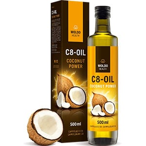 WoldoHealth C8 Coconut Oil 500ml