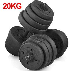 Yaheetech Set 2 Manubri 10 kg